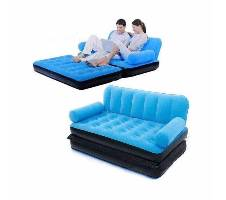 5 in 1 Inflatable Sofa Bed Single with pumper বাংলাদেশ - 6362642
