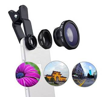 Universal 3-in-1 Clip-On Camera Lens Kit