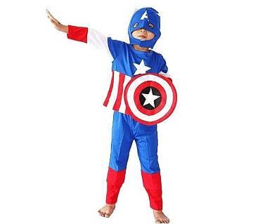 Captain America Dress For Kids - Multicolor
