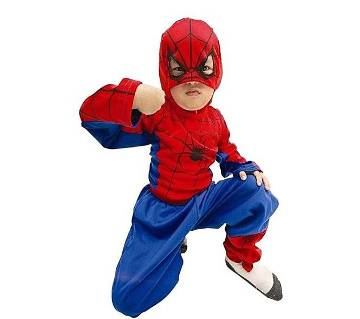 Spiderman Dress For Kids - Red And Blue