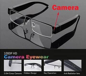 HD 1080P Spy Camera Hidden Eyewear - Black