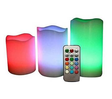 Remote Operated Color Changing Electric Candle