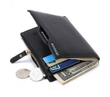 Leather Wallet for Men - Black