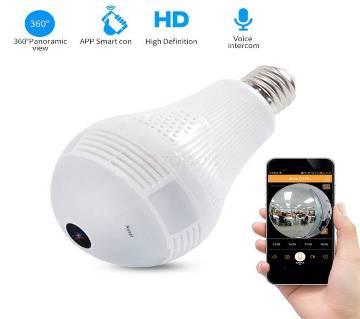 Spy WiFi P2P 360 Degree 3D Panoramic VR বাল্ব ক্যামেরা