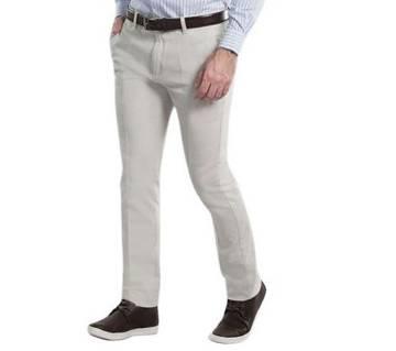 Off White Twill Gabardine Pant for Men