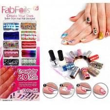 Fab Foils নেইল পলিশ - ১৩ পিসের সেট (UK)