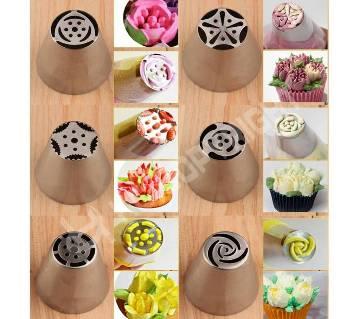 RUSSIAN cake decorator nossel set (8 pcs)