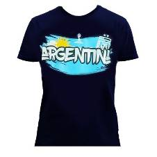 Argentina Supporters Navy Blue Cotton T-Shirt for Men