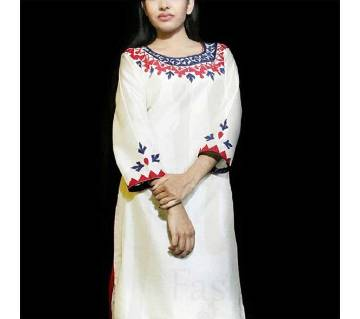 Readymade Silk Single Kameez (Karchupi & Cutwork)