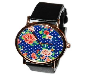 Flower Dial Fashionable Ladies Watch