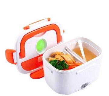 Portable Electric Lunch Box-white &orange