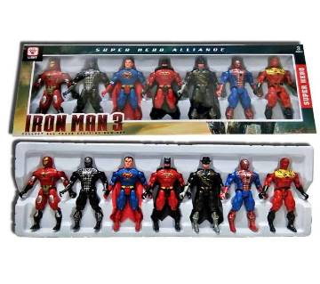 SUPER HERO FIGURE SET OF 7 PIECES