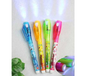 Invisible ink Pen With UV Light 3 Pice