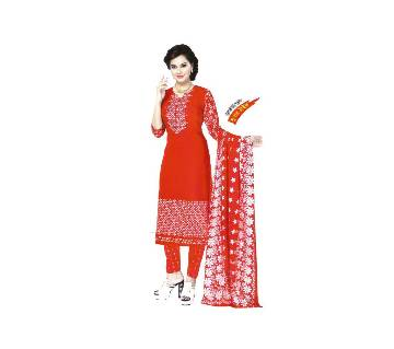 Boishakhi Skin Printed Cotton Unstitched Three Pcs