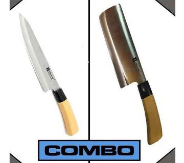 Kitchen Knife + Meat Cutting Knife Combo