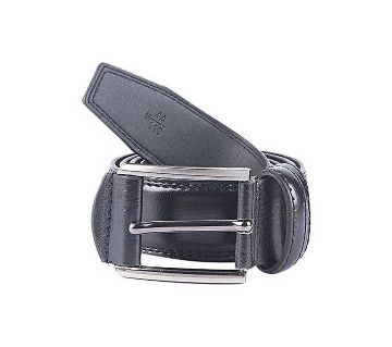 Men Black Mixed Leather Casual Belt