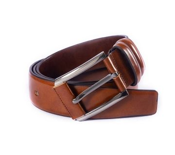 Mens Chocolate PU Leather Formal Belt