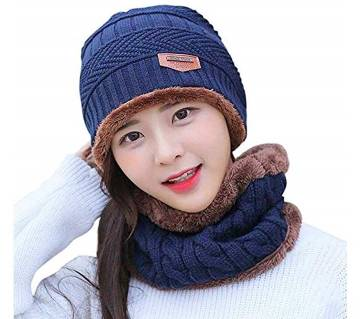 Woolen Winter Cap & Scarf Set for Kids