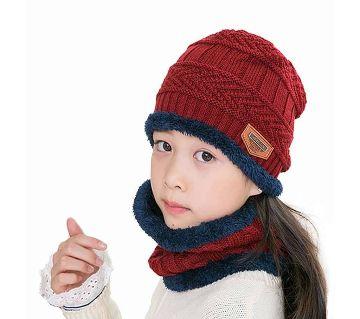 Woolen Baby Winter Cap & Scarf