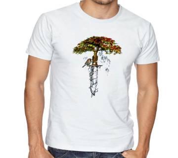 Tree Bird Half Sleev T shirt