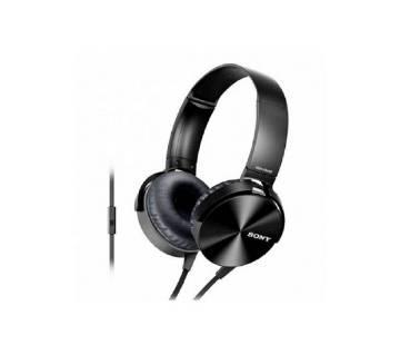 sony extra bass headphone black