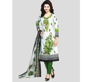 Unstitched Printed Cotton Salwar Kameez
