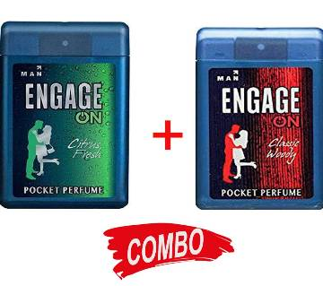 Engage on Classic woody + Engage Citrus Fresh Pocket Perfume for men Combo Offer