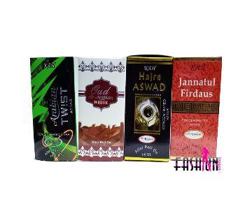 4 pcs roll on concerted perfume ( attar) 6 ml each
