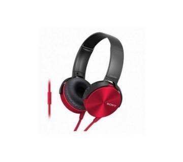 Sony MDR-XB450AP Headphone (Red) Copy
