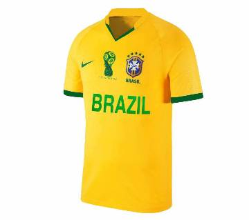 2018 World Cup Brazil Short Home Jersey - Half Sleeve (Copy)