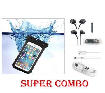 Water Proof Mobile bag , headphone, cabel supar combo offer