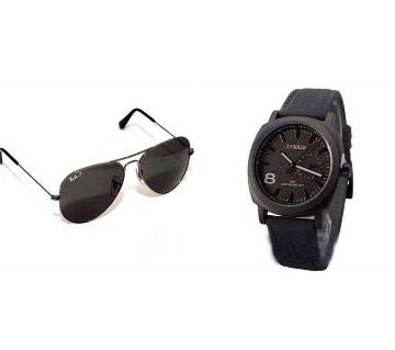 Ray-Ban Copy SUnglass + CURREN Copy Gents Watch
