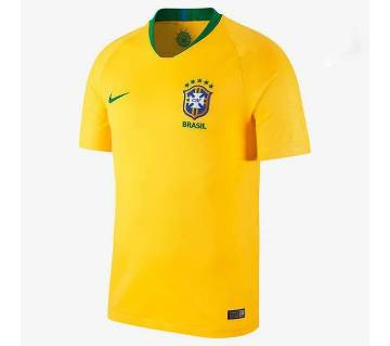 2018 World Cup Brazil Home Jersey - Half Sleeve (Copy)