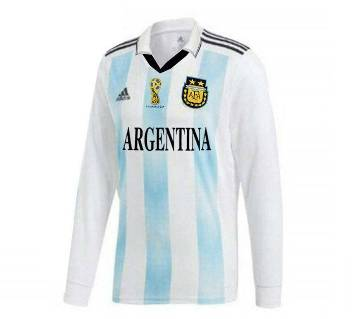 2018 World Cup Argentina Home Jersey - Full Sleeve (Copy)
