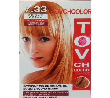 TovCh Hair color  Gold Yellow 7.33  120ml-China