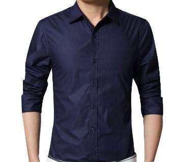Black Full Sleeve Casual Shirt For men