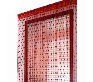 Handloomhub Red Heart Net Porda (2pcs)