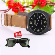 Mens casual watch with free sunglasses