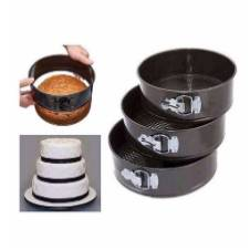 Round shaped cake pan set 3 Piece