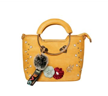 Yellow hand bag for Women a001