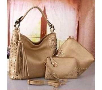 Ladies 3 in 1 Vanity Bag/ Handbag Set