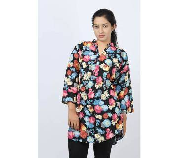 Flower Printed Georgette Ladies Fatua