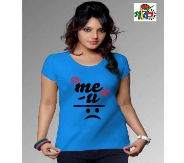 Miss you printed ladies t shirt