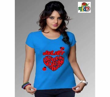 juliet t shirt printed ladies t shirt