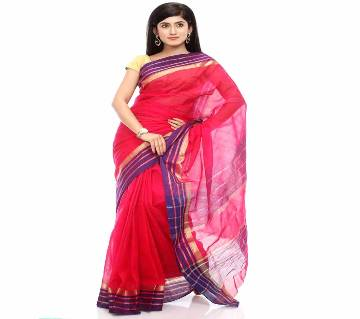 Red Taant Cotton Sharee