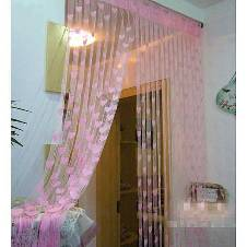 Handloom hub Net Curtains 2 pcs - Pink