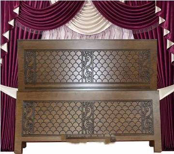 Malaysian wooden Double Bed
