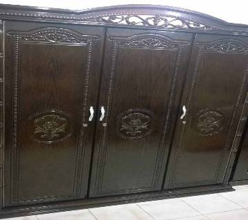 Malaysian Wooden Triple Palla Almirah
