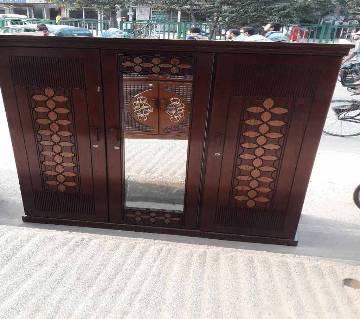 Malaysian MDF Wooden 3 Palla Almirah বাংলাদেশ - 6467591