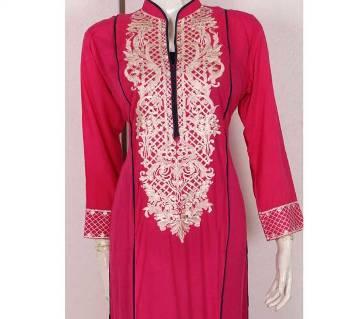 Pakistani Stitched Georgette Embroidery Long Kurti